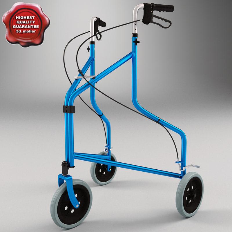 folding 3 wheel walker 3ds