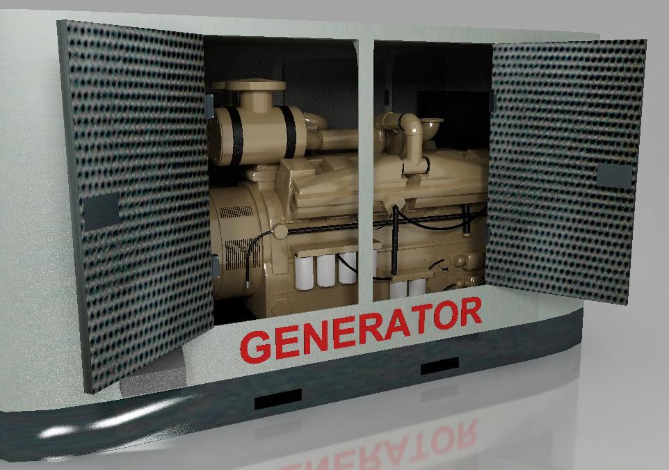 3d diesel generator canopy model