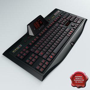 3d model gaming keyboard logitech g510