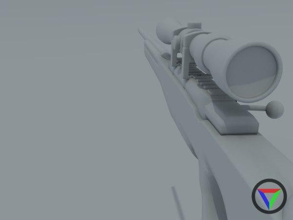 l96 sniper rifle 3d model