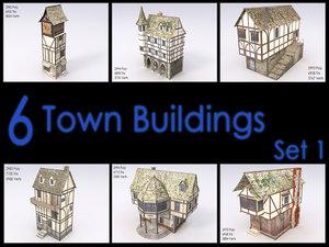 medieval town building games 3d model