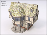 3d model medieval town building games