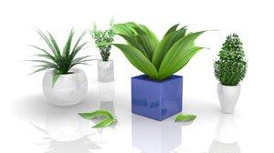 3d 3ds plants bush architectural