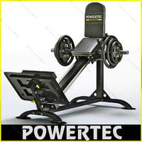 powertec p-cls10 compact leg 3d 3ds