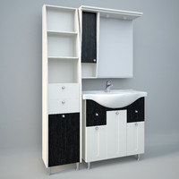 wash-vasin column cabinets 3d max