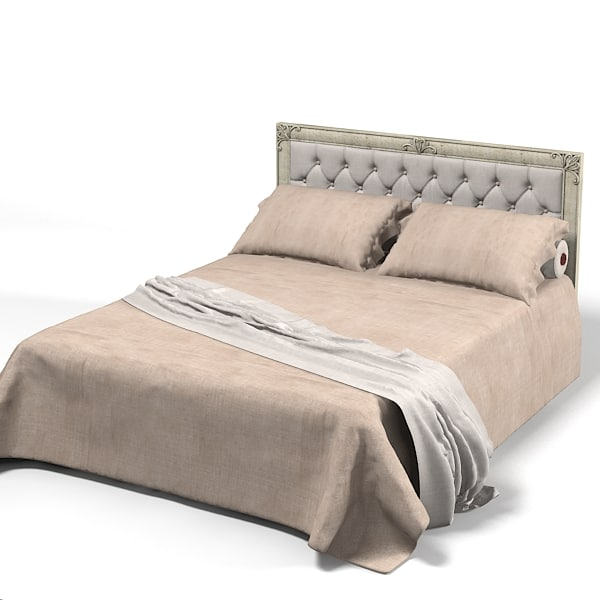 classic tufted bed 3d max