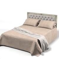 Corte Zari classic tufted high back bed