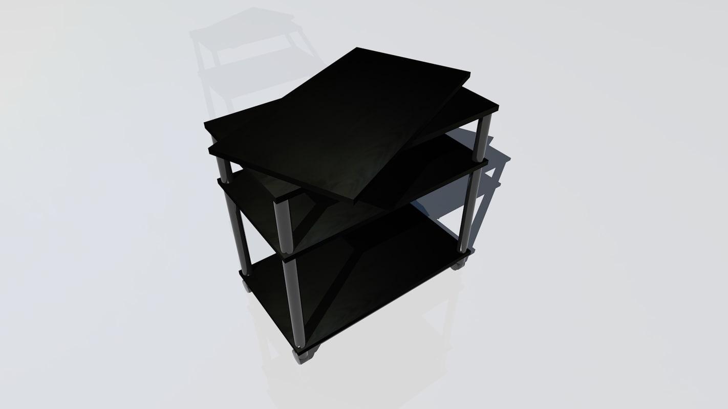 black sideboard 3ds