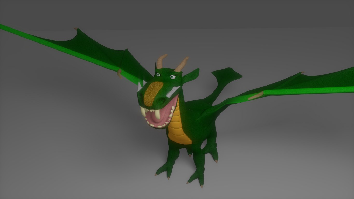 blender dragon claws wings