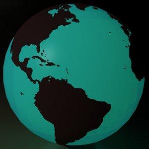 3ds max globe earth