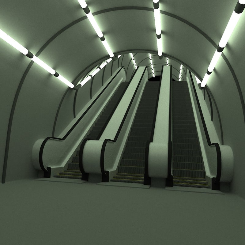 3ds underground scene escalator