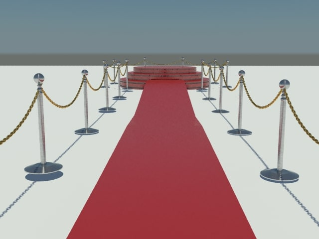 3d red carpet scene model
