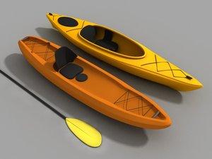 3d model kayak sit
