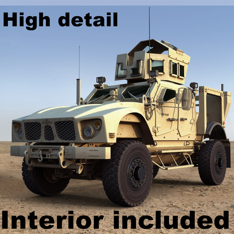 3d m-atv military vehicle model