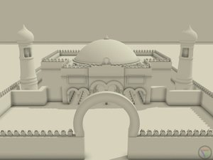 highpoly mosque building 3d model