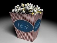 3d model of popcorn corn