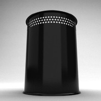 Black Trash Bin 5 vray materials