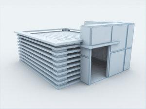 3d model of architectura frank lloyd