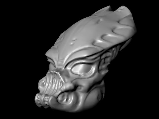 guardian predator mask 3d model