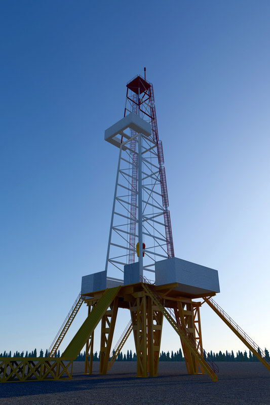 3ds max drilling rig
