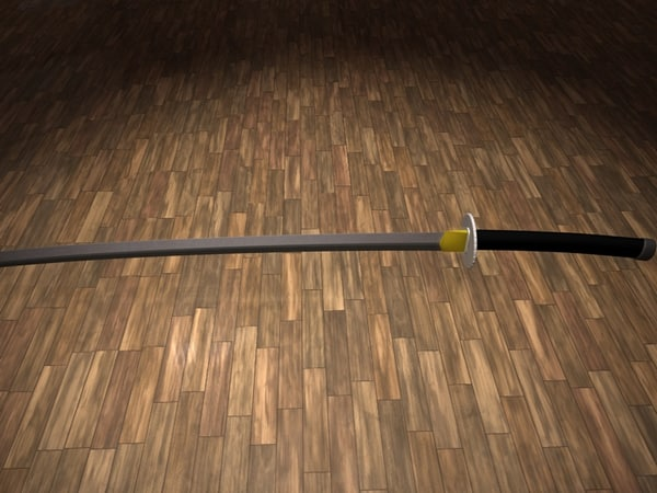 3dsmax katana sword samurai