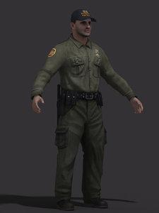 3d model of border patrol