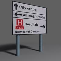 road sign coz110101401 3d x