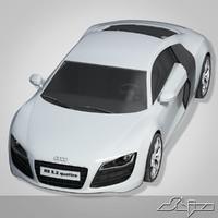 3d audi r8 car model