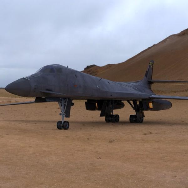 bomber b-1b military aircraft 3ds