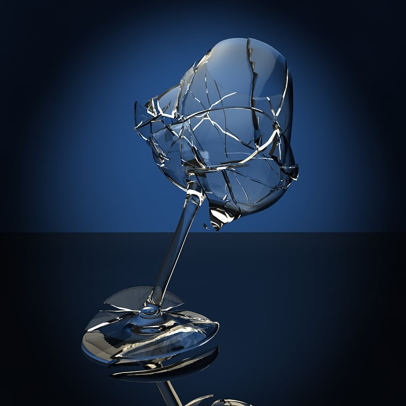 3ds max wine glass bre...