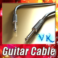Guitar Cable - High Detailed.