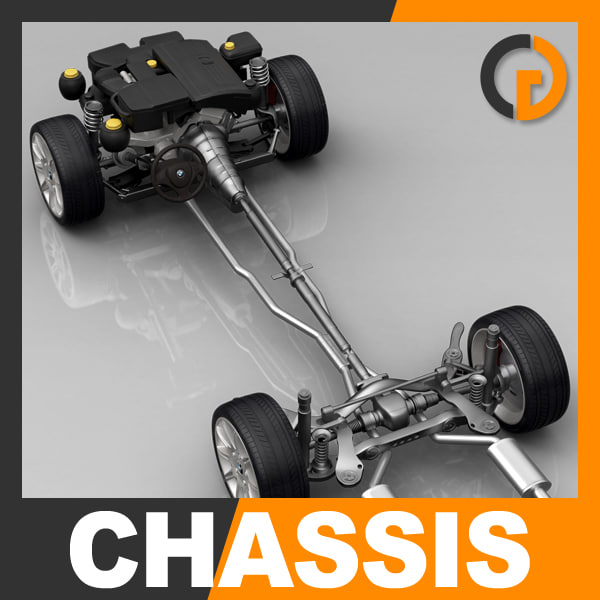 3d chassis engine model