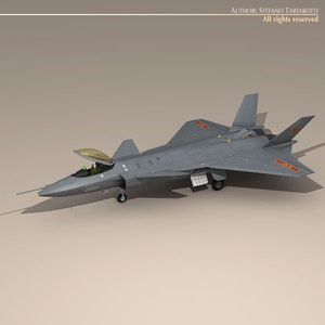 3d model chengdu j-20 stealth fighter