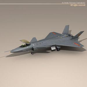 3d model chengdu j-20 stealth fighter