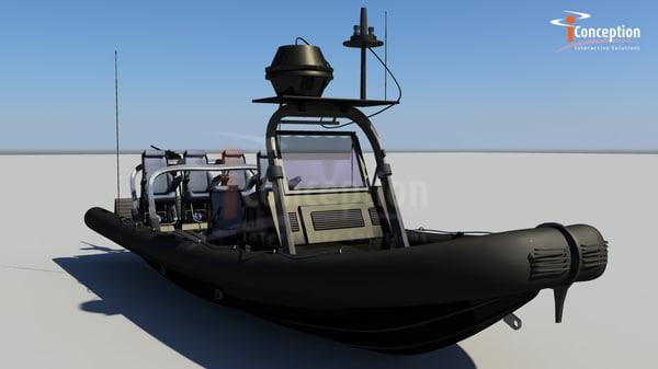 commando boat 3d model