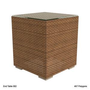 end table 002 3d lwo