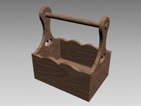 3d garden caddy wood
