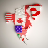political north america country 3d max