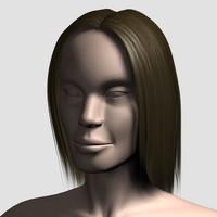 max hair character mesh 01