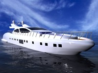 mangusta 130 motorboat obj