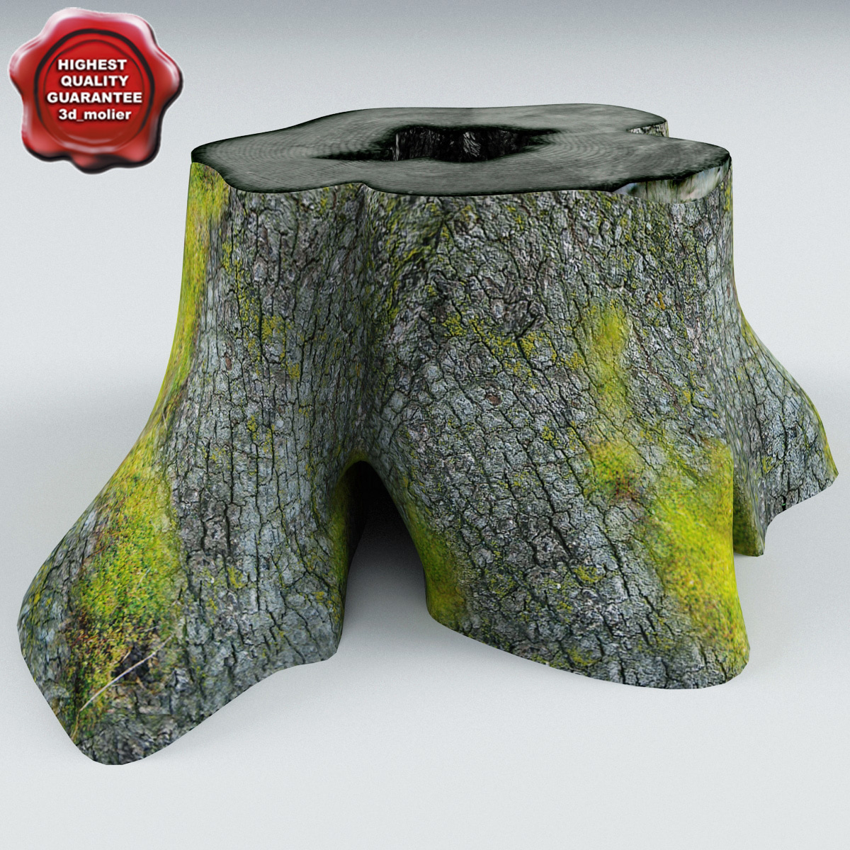 old stump v4 3d model
