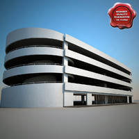 parking modelled 3d model