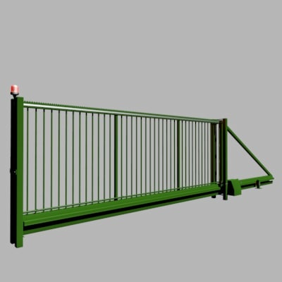 cinema4d automatic sliding gate