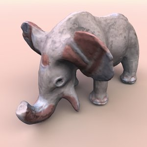maya clay elephant