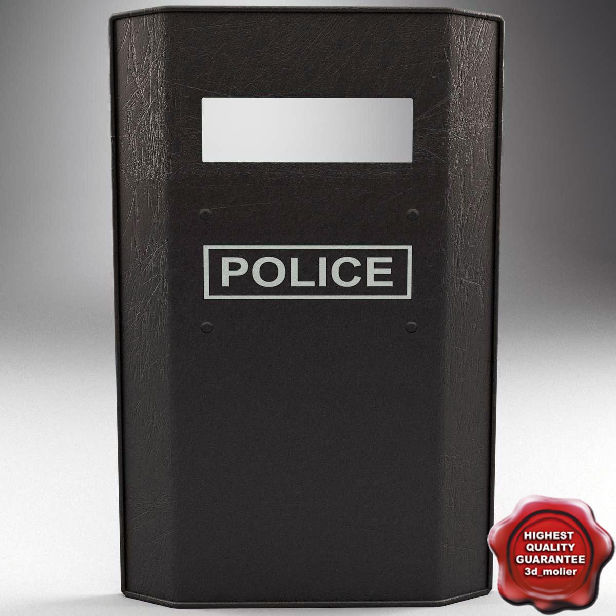 riot shield v1 3d max