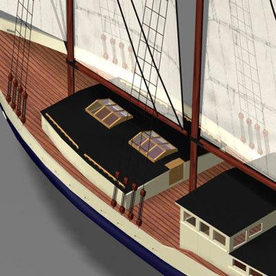 3ds schooner sails