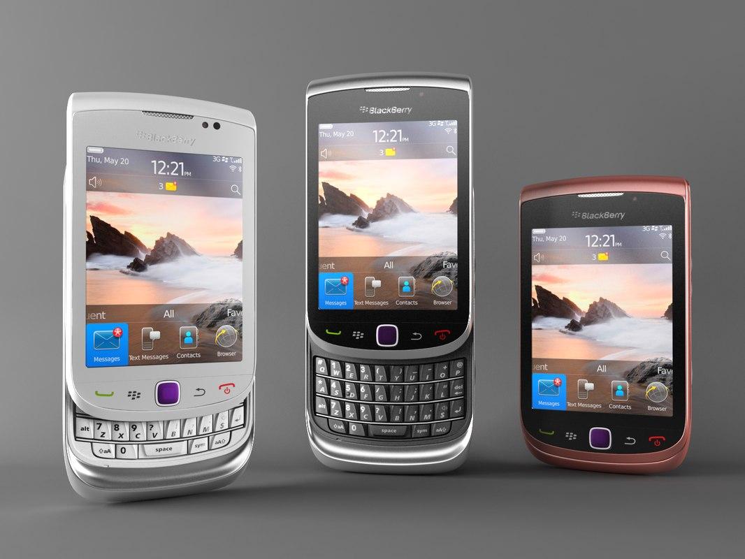 blackberry torch 9800 3d max