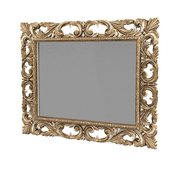 Baroque Wall Mirror wall mirror 3d fbx