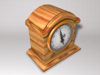 wooden clock 3ds