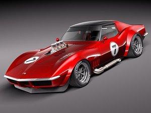chevrolet corvette c3 1969 3d 3ds